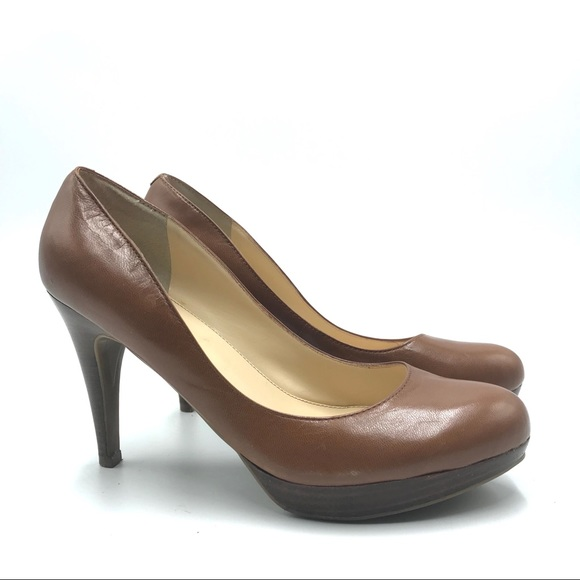 Marc Fisher Shoes - Marc Fisher Brown Leather Heeled Shoes, Size 8.5